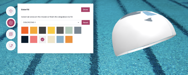 3D configurator for custom swim cap