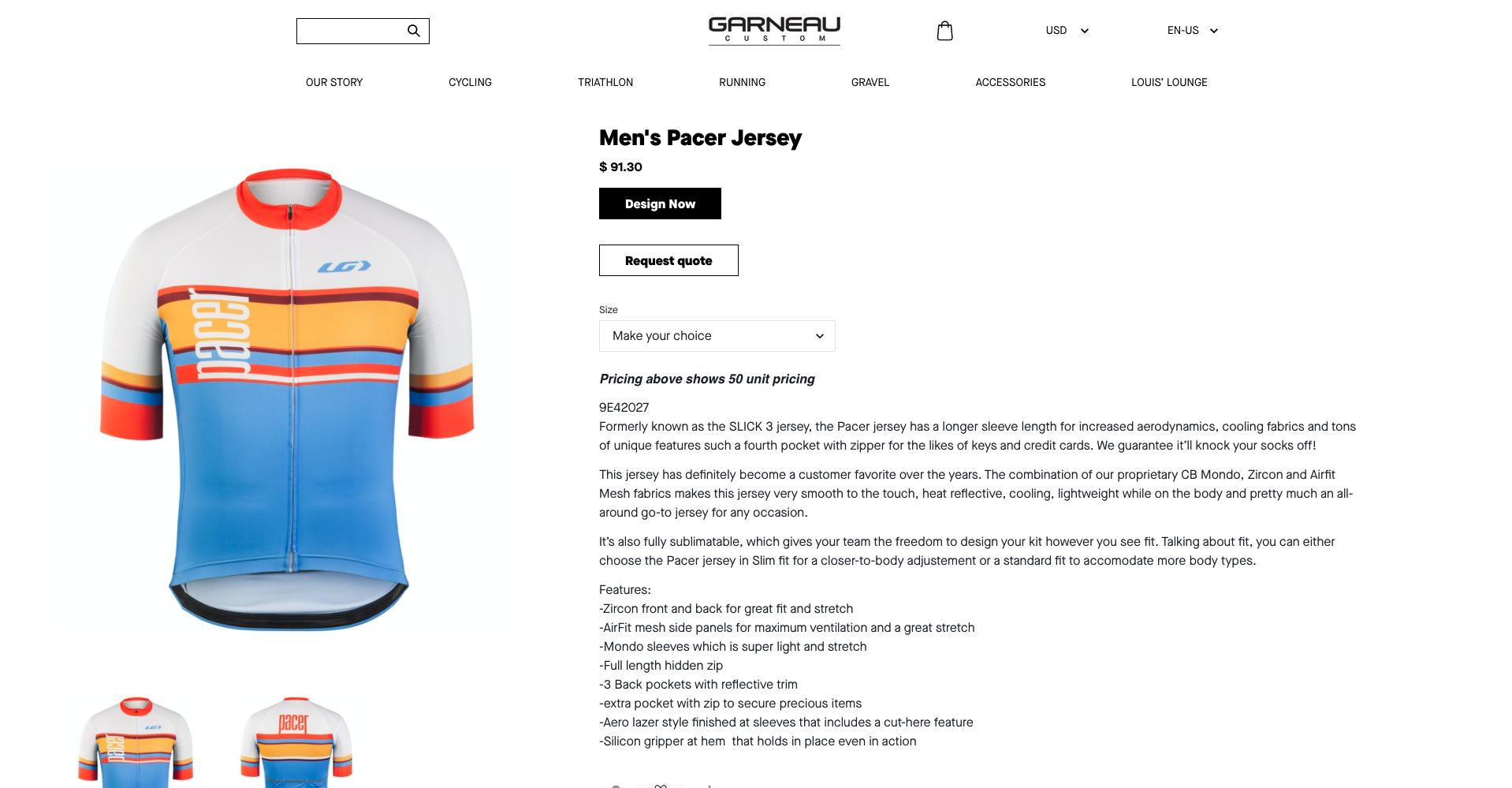 Garneau-product-page