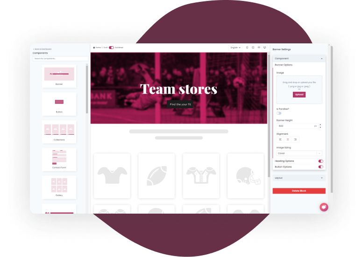 homepage team store hero