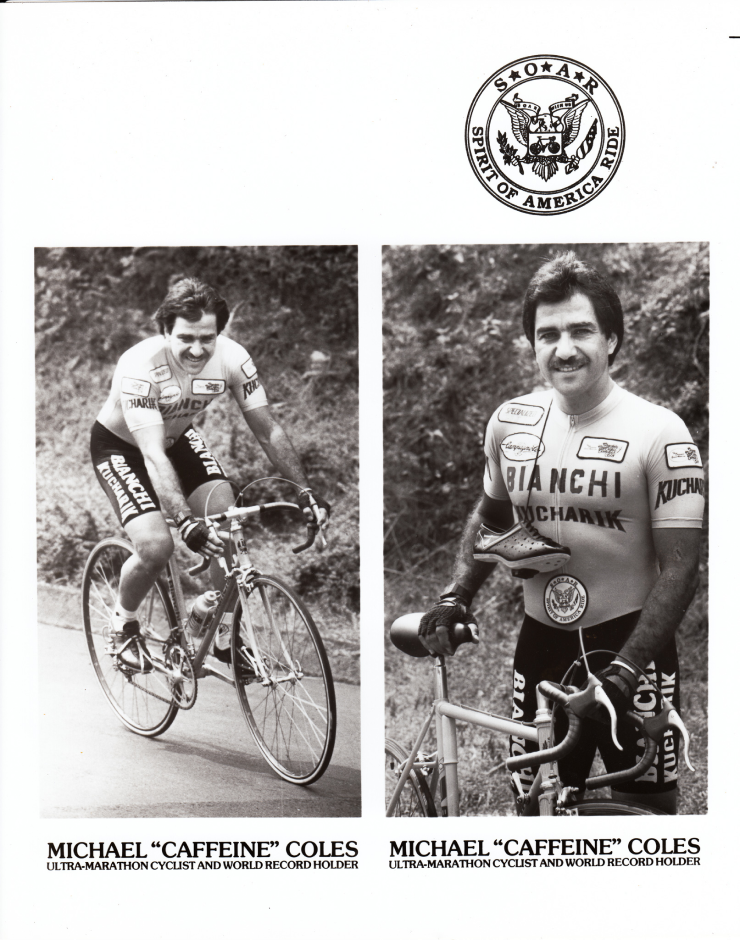 Michael Coles during the 1984 Race Across America