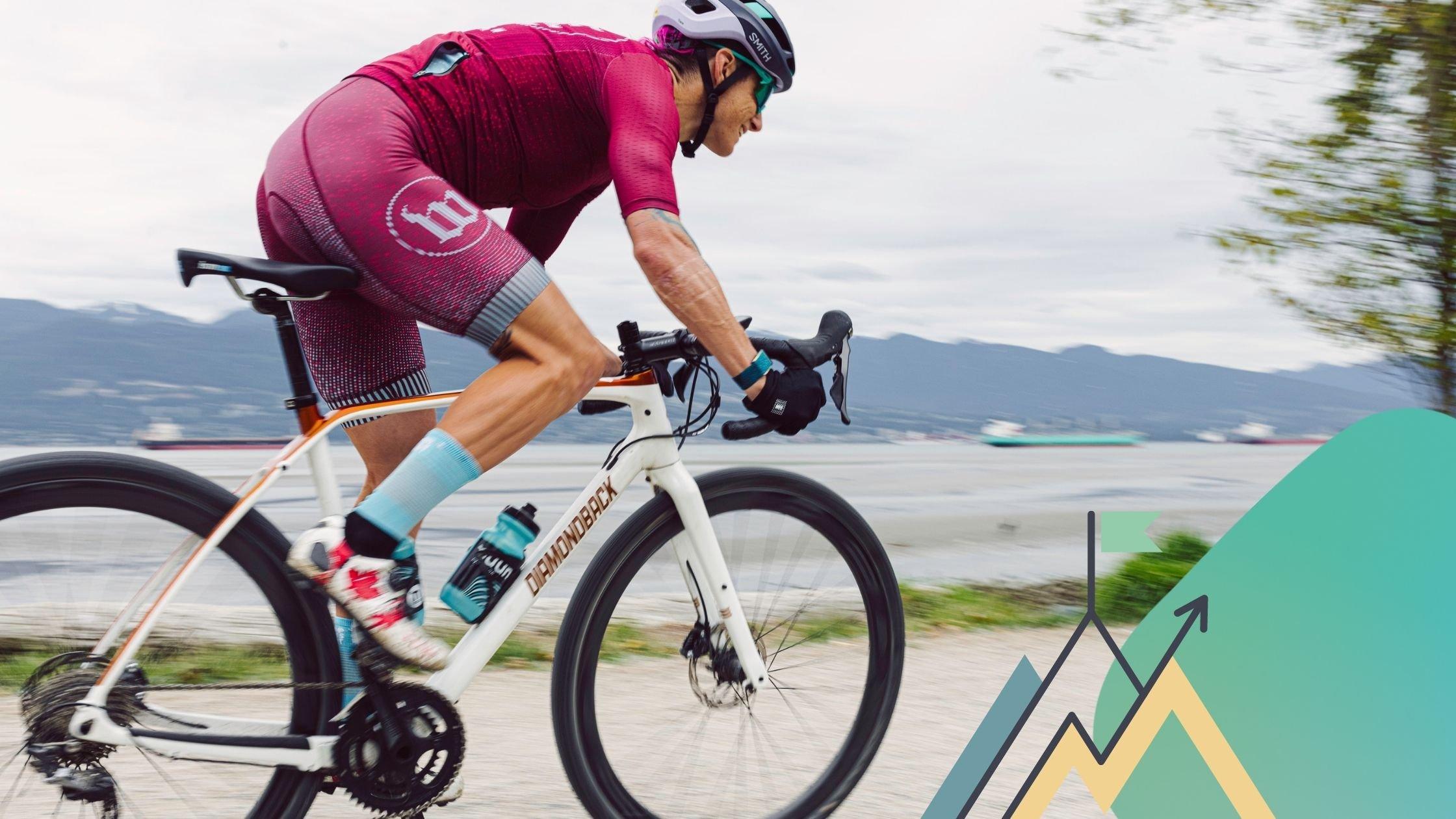 Rachel McBride on her bike
